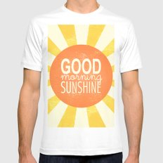 Morning Sunshine Mens Fitted Tee White SMALL