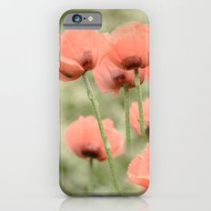 Pink Poppies patterns Slim Case iPhone 6s