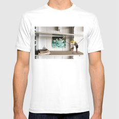 Face the Future White Mens Fitted Tee SMALL