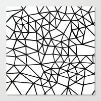 Segment Dense Black on White Canvas Print