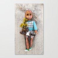 Sleepy Eyed Doll Canvas Print