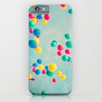 iPhone & iPod Case featuring Polka Dots (Colorful happy balloons in flight) by AC Photography