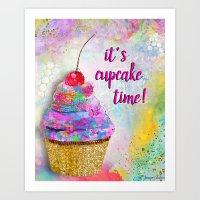 It's Cupcake Time! Art Print