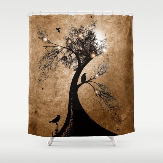 Raven christmas II - HOLIDAZE Shower Curtain