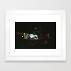 new york city, lower east side Framed Art Print