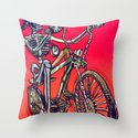 Calaveira Rider Throw Pillow