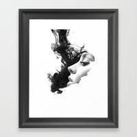 Smoke & woman Framed Art Print