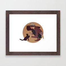 cole cat Framed Art Print