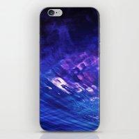 firey blues iPhone & iPod Skin