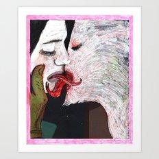 Devils kiss Art Print