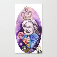 Lizzie in the Sky with Daimonds Canvas Print