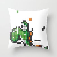 Yoshi Tetris Throw Pillow