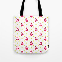 Dots And Cherries Tote Bag