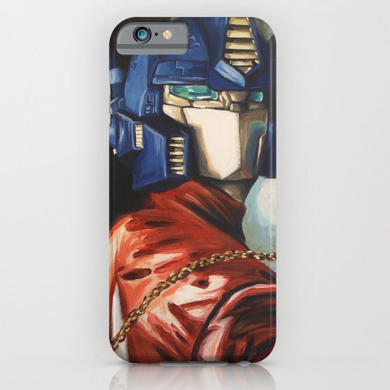 Optimus Prime With Sunflower iPhone & iPod Case
