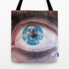 Death in the eyes Tote Bag