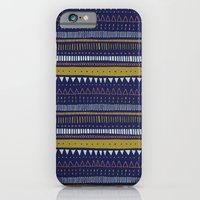 Dark Blue Pattern iPhone 6 Slim Case