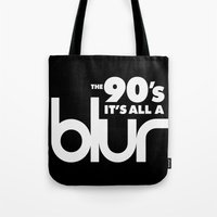 The 90's It's All A Blur Tote Bag