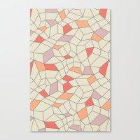 Mod Colorblock Mesh Canvas Print