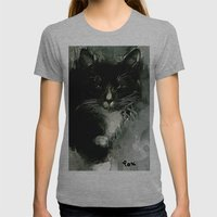 TUXEDO Womens Fitted Tee Athletic Grey SMALL