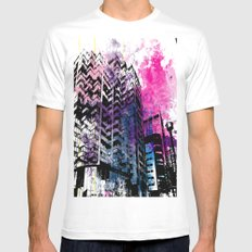 Ciudad #1 Mens Fitted Tee SMALL White