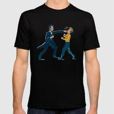 Abe Lincoln VS Captain Kirk SMALL Black Mens Fitted Tee