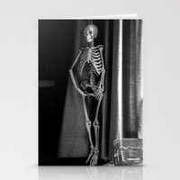 The Skeleton by the Printer Stationery Cards