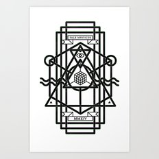 FALX MYSTICUS White Art Print