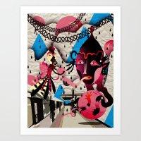 Ugly Mountain Detonation… Art Print