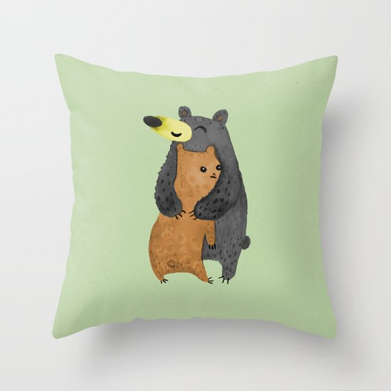 Bear Hug Throw Pillow