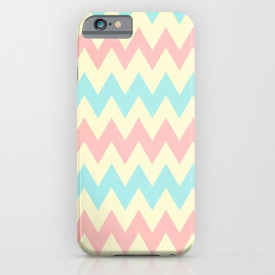 Summer Pink & Blue Chevron iPhone & iPod Case