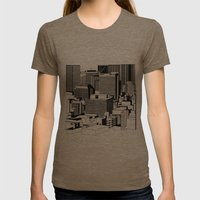 Hong Kong Black and White Womens Fitted Tee Tri-Coffee SMALL