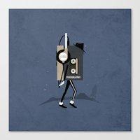 Moonwalkman Canvas Print