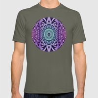 3D-Abstract-Digital-Patt… Mens Fitted Tee Lieutenant SMALL