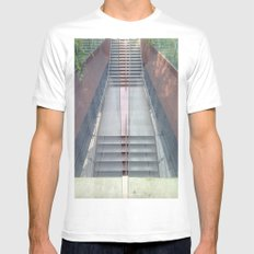 Stairs White Mens Fitted Tee SMALL