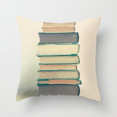 Old Purple Books  Throw Pillow