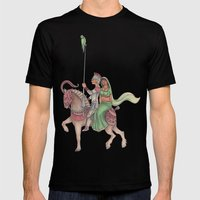 Indian Knight Mens Fitted Tee Black SMALL