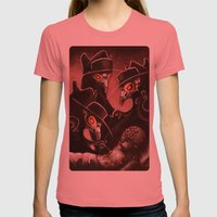 Plague Doctors Womens Fitted Tee Pomegranate SMALL