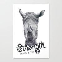 Rhino Strength Canvas Print