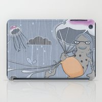 Rainstorm-blue iPad Case