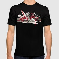 Red Metal SMALL Mens Fitted Tee Black