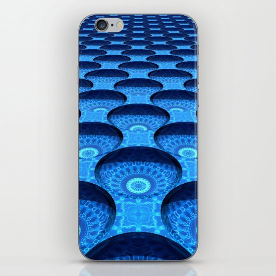 Blue Dimples with Kaleidoscopes iPhone & iPod Skin