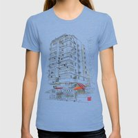 I Love Hong Kong Womens Fitted Tee Tri-Blue SMALL