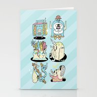 The Gangs All Here Stationery Cards