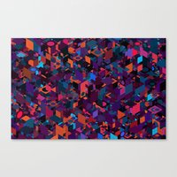 Panelscape: colours from Circles  Canvas Print