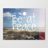 Be At Peace Canvas Print
