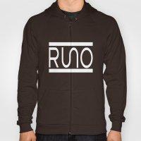 Rue Nothing RUNO Logo White Hoody