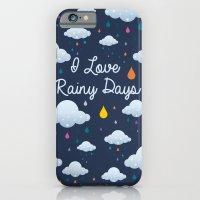 I Love Rainy Days iPhone 6 Slim Case