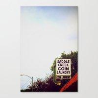 Saddle Creek Coin Laundry Canvas Print