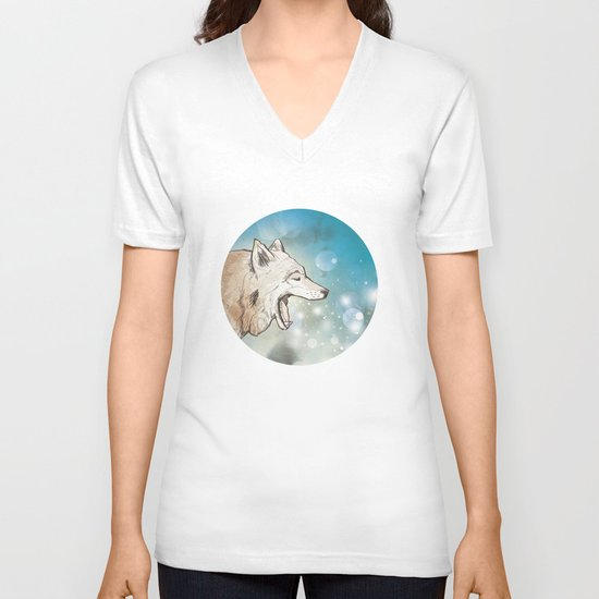 Scattered V-neck T-shirt