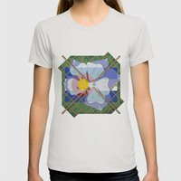 Altered State Flower: CO Womens Fitted Tee Silver SMALL